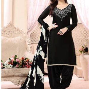 Brand new black three piece Punjabi suit